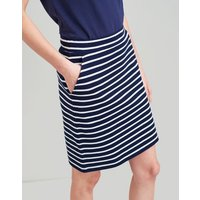 NAVY CREAM STRIPE Portia Jersey Skirt  Size 8