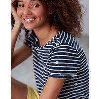 NAVY DAISY Nessa print Lightweight Jersey T-Shirt  Size 12