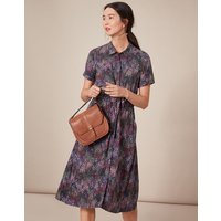 Winslet Print Button Front Shirt Dress