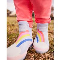 Blue Rainbow Wellibob Short Height Wellies  Size Childrens Size 1
