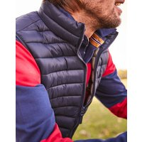 MARINE NAVY Go to Lightweight Quilted Gilet  Size M