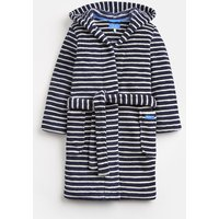 Navy Cream Stripe Roban Dressing Gown  Size M