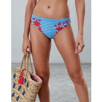 BLUE FLORAL BORDER Nixie Bikini Bottom  Size 12