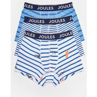 BLUE SKELETON DINO STRIPE Mini crown joules 3Pk Boxers 3-12Yr  Size 3yr-4yr