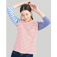 BLUE MULTI STRIPE Harbour Jersey Top  Size 6