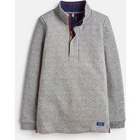 Grey Marl Wayman Half Zip Sweatshirt 1-12 Years