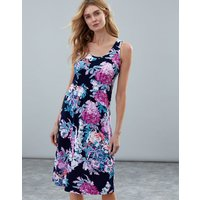 Navy Floral Gabriella Sleeveless Jersey Dress  Size 18