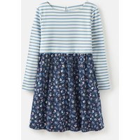 Navy Ditsy Layla Hotch Potch Jersey Dress 1-6 Years  Size 6Yr