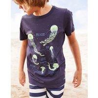 Navy Jellyfish Ray Glow In The Dark T-Shirt 3-12 Yr  Size 6Yr
