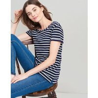 Navy Cream Stripe Nessa Stripe Lightweight Jersey T-Shirt  Size 16