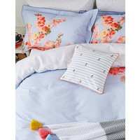 Blue Floral Hollyhock Floral Oxford Pillowcase  Size One Size