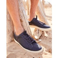 French Navy Parker Leather Trainers  Size Adult Size 10