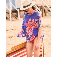 Blue Floral Rosanna Cover Up  Size One Size