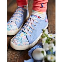 White Mermaid Ditsy Coast Pump Canvas Lace Up Trainers  Size Childrens Size 2