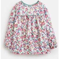 White Ditsy Phoebe Jersey Smock Top 3-12 Years  Size 5Yr