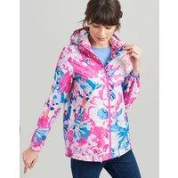 CREAM FLORAL Golightly short Waterproof Packaway Jacket  Size 12