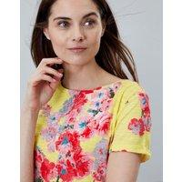 Lemon Floral Nessa Print Lightweight Jersey T-Shirt  Size 12