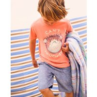 Orange Pufferfish Ben Screenprint T-Shirt 3-12 Yr  Size 9Yr-10Yr