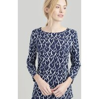 FRENCH NAVY HEARTS Harbour Printed Jersey top  Size 12