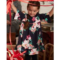 Navy Granny Floral Adaline Woven Dress With Peplum Frill 1-6Yr  Size 1Yr