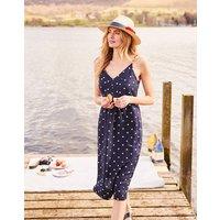 Navy Spot Zoey V Neck Strappy Dress  Size 18