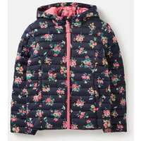 Navy Ditsy Floral Kinnaird Print Padded Packable Coat 1-12 Years  Size 7Yr-8Yr