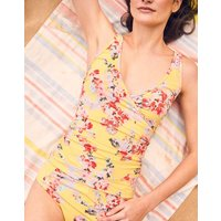 Lemon Floral Meredith Wrap Swimsuit  Size 12