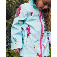 Aqua Floral Raindance Waterproof Rubber Coat 1-6 Yr  Size 3Yr