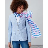 BLUE STRIPE FLORAL Wensley Printed scarf  Size One Size