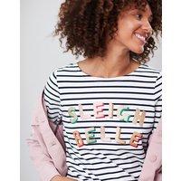 Sleigh Stripe Harbour Print Long Sleeve Jersey Top