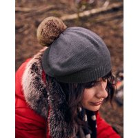 Cosybridge Knitted Beret with pop-a-pom