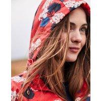 Red Lilypad Golightly Print Waterproof Packaway Jacket  Size 12