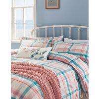 Green Peach Check Cottage Garden Check Oxford Pillowcase  Size One Size