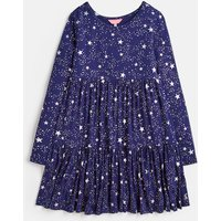 Navy Star Toni Tiered Dress 3-12 Years  Size 4Yr