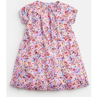White Fruit Floral Ditsy Reva Jersey Frill Night Dress 1-12 Yr  Size 7Yr-8Yr