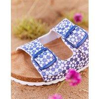 White Geo Penley Printed Slider Sandal  Size Adult 6
