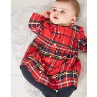 Macy Cotton Woven Dress Set Up To 1 Mth- 24 Mths