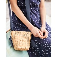 Natural Bradwell Woven Straw Small Cross Body Bag  Size One Size