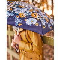 Navy Bouquet Border Fulton Tiny Floral Stripe Ladies Umbrella  Size One Size