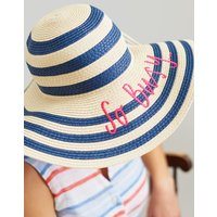 Navy So Busy Shade Embroidered Sun Hat  Size One Size