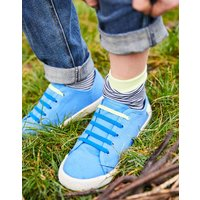 BLUE Coast pump Canvas Lace Up Trainers  Size Childrens 1