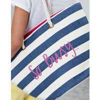 CREAM STRIPE SO BUSY Seaside Summer Beach Bag  Size One Size
