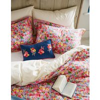 PINK FLORAL MULTI Hollyhock meadow oxford Pillowcase  Size One Size
