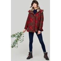 Red Check Carolyn Opera Coat  Size M