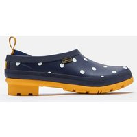 French Navy Spot Pop On Slip On Welly Clogs  Size Adult 7