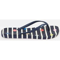 NAVY STRIPE FUN SPOT 204694 Flat Bed Flip Flops  Size Adult 4