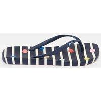 NAVY STRIPE FUN SPOT 204694 Flat Bed Flip Flops  Size Adult 5
