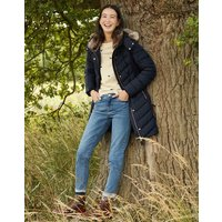 Cherington Chevron Quilted Longline Padded Coat