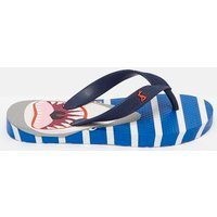 BLUE SHARK STRIPE 205973 Printed Flip Flops  Size Childrens 12