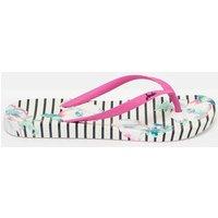 CREAM POPPY 204694 Flat Bed Flip Flops  Size Adult 8